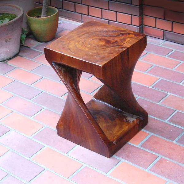 チーク無垢材スツール チーク材 椅子