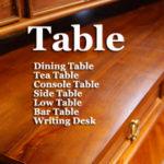 テーブル デスク チーク無垢材 家具