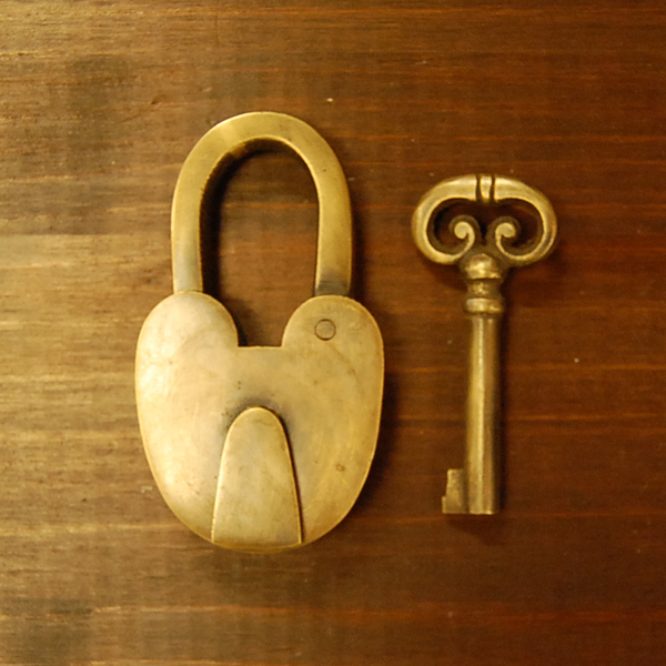 真鍮南京錠 鍵 ブラス Brass 扉金具