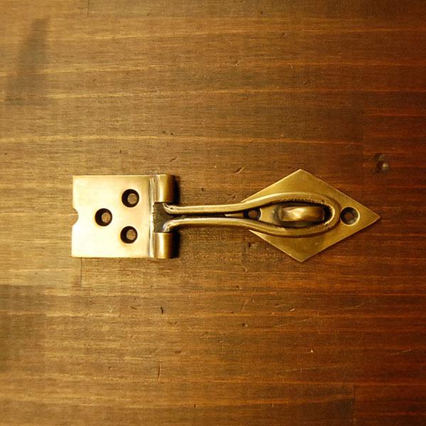 真鍮ドア留め金具 ブラス Brass 金具 錠前