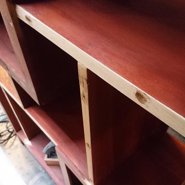 アクションシェルフ チーク無垢材家具 無垢材家具 飾り棚 違い棚