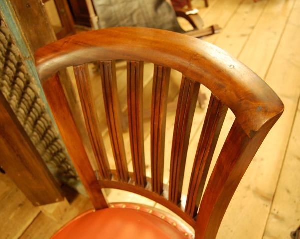 背もたれ修理 椅子 工房 チーク無垢材