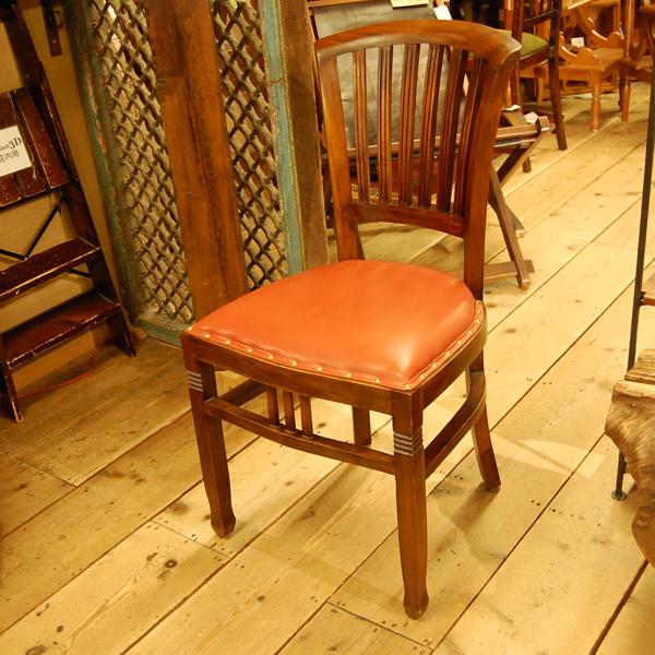 椅子修理 リペア 背もたれ チーク無垢材