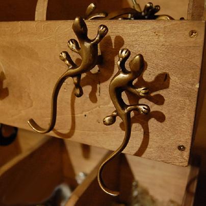 とかげ型取手 真鍮 ブラス ハンドル