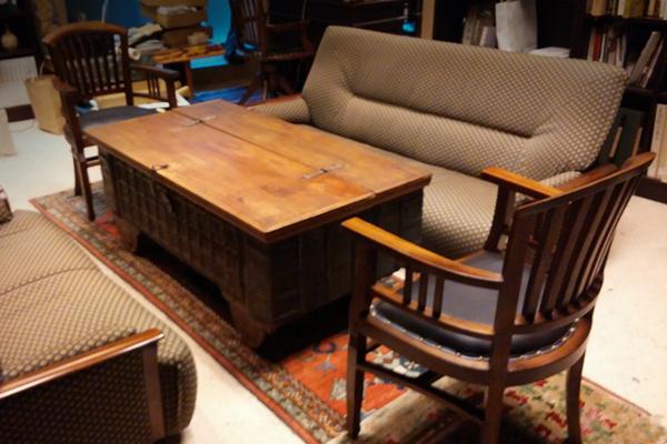 応接セット 古材収納テーブル