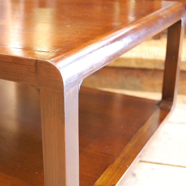 修理補強部分 cubetable チーク無垢材テーブル