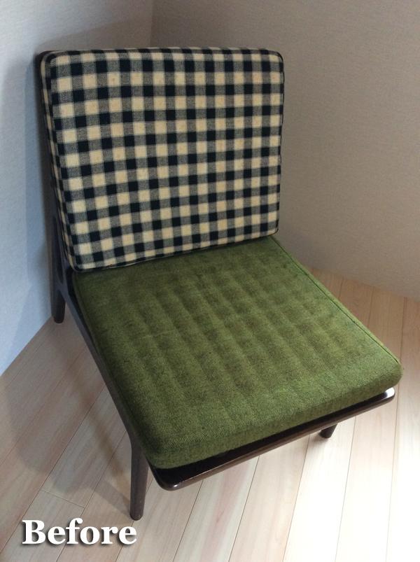 椅子修理 クッション縫製