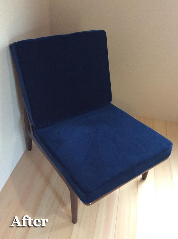 椅子修理 クッション縫製 モケット生地