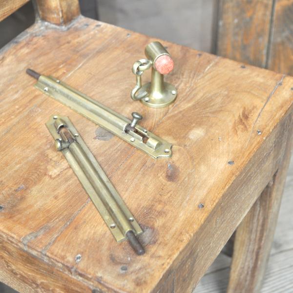 フランス落とし 観音開き 扉金具 フレンチドア 真鍮 ブラス 部品 DIY