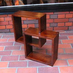無垢材家具 クロスキューブラック CrosscubeRack CDラック 飾り棚 薄型収納