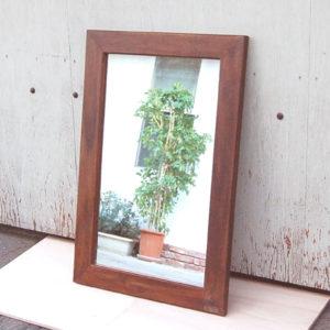 チーク無垢材家具 ミラー 壁掛けミラー 鏡