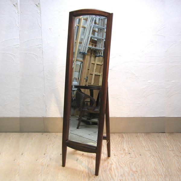 チーク無垢材家具 スタンドミラー 姿見 ドレッシングミラー Mirror
