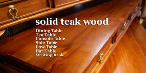 チーク無垢材 テーブル デスク