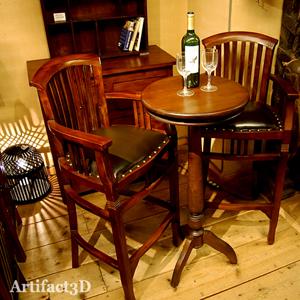 京都三条アーティファクトスリーディー チーク無垢材家具 レザー オリジナル家具