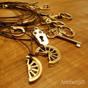 真鍮 家具取手ネックレス オリジナル ブラスネックレス 部品