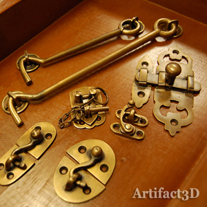 真鍮金具 フック 錠前 地震対策