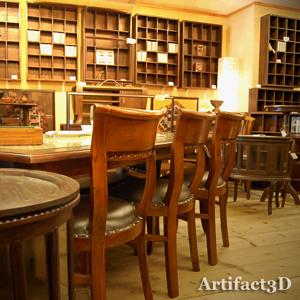 京都三条アーティファクトスリーディー チーク無垢材家具