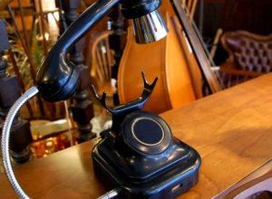 黒電話 照明 テーブルランプ 昭和レトロ アレンジ家具 インテリア