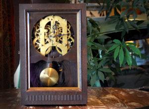 振り子時計 歯車 置時計 昭和レトロ