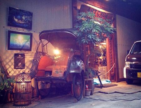 アートクルー倉庫エントランス インドネシアベチャ