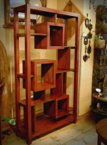 アクションシェルフ 飾り棚 チーク無垢材 無垢材家具