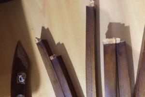 椅子背もたれ破損 修理 チーク無垢材