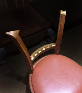 背もたれ破損 椅子 修理 チーク無垢材