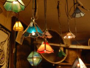 ステンドグラス 照明 ランプ ペンダントランプ ライト