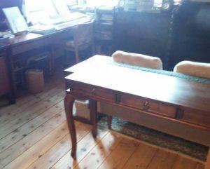 お客様使用事例 チーク無垢材家具 コンソールテーブル