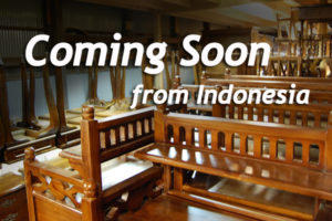 新入荷家具 コンテナ 入荷案内 金具 チーク家具 インドネシア