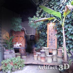 3Dエントランス おとぎ話 バナナの木 さや台 登り窯 信楽焼