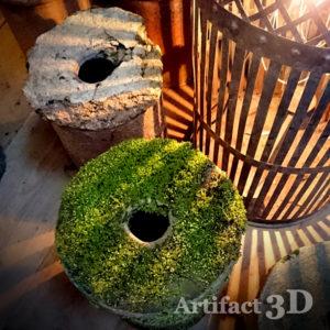 3Dエントランス おとぎ話 バナナの木 さや台 登り窯 信楽焼 苔 行燈