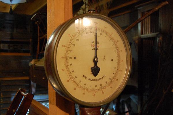 体重計 目盛 お風呂屋さん 古道具 修理