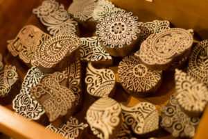 木版 ウッドブロック スタンプ インド はんこ
