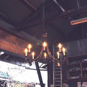 シャンデリア アイアン 吊り下げ ランプ 照明