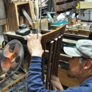 椅子張り替え 加工 修理