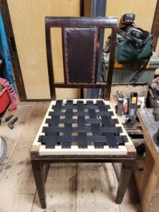 アンティークチェア修理 椅子 座面 破損 張替 リフォーム