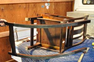 ロッキングチェア改造 チーク無垢材家具 チェア カスタマイズ 加工