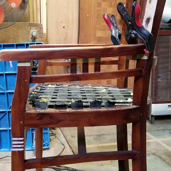 トリプルアーム改造 アームチェア アーム改造 座面張替